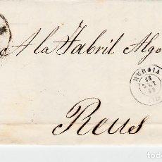 Sellos: CARTA ENTERA CON NUM. 48 DE DOMINGO COLOMBO EN MURCIA -1859 -RUEDA DE CARRETA Y FECHADOR. Lote 145411642