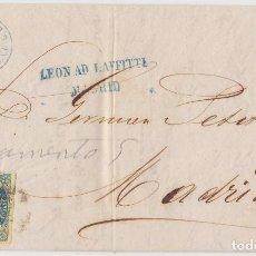 Sellos: CARTA COMPLETA DE CORREO INTERIOR DE MADRID (07.11.1862) EDIFIL 57. Lote 145767806