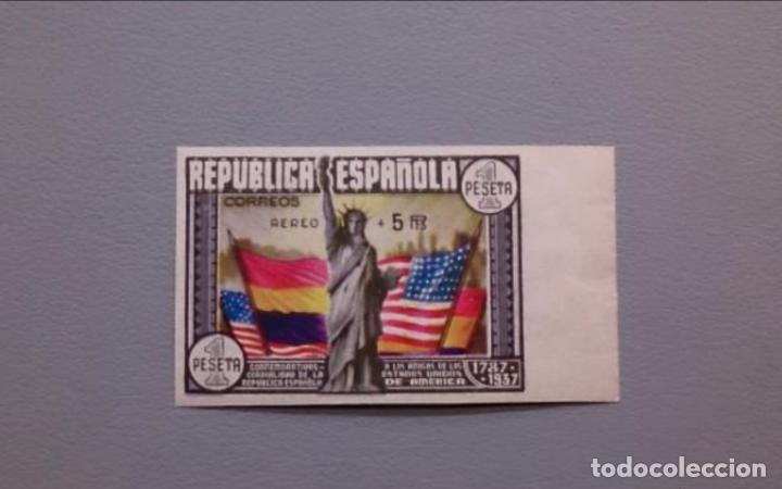 ESPAÑA - 1938 - II REPUBLICA - EDIFIL 765S - MNH** - NUEVO - LUJO - MARQUILLADO- VALOR CAT. 750€ (Sellos - España - Isabel II de 1.850 a 1.869 - Nuevos)