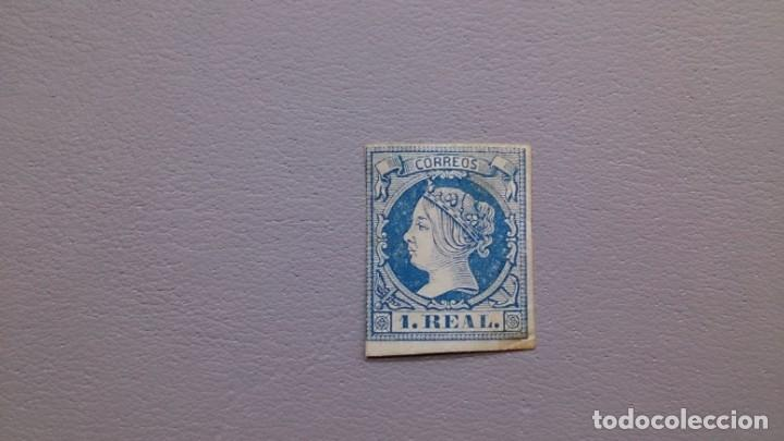 ESPAÑA - 1860-1861 - ISABEL II - EDIFIL 55 - MH* - NUEVO - VALOR CATALOGO 385€. (Sellos - España - Isabel II de 1.850 a 1.869 - Nuevos)
