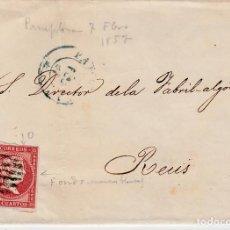 Sellos - CARTA CON SELLO NUM 48 DE MIGUEL MARCO EN PAMPLONA - 1857 - FECHADOR AZUL - 146308210
