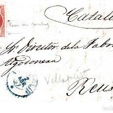 Sellos - CARTA CON SELLO NUM 48 DE G. HERREZUELO EN VALLADOLID - 1857 FECHADOR AZUL - 146309254