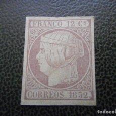 Sellos: EDIFIL 13 SUPONGO USADO FRANCO 1852 12 CUARTOS SIN MARCAS. Lote 146370434