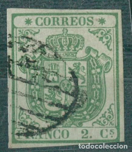 EDIFIL 32A.ESCUDO DE ESPAÑA.CERTIFICADO CEM. CATÁLOGO 2.850€ (Sellos - España - Isabel II de 1.850 a 1.869 - Usados)