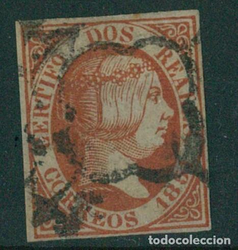 EDIFIL 8.ISABEL II 2 R. ROJO.CERTIFICADO SORO.CATÁLOGO 15.600€ (Sellos - España - Isabel II de 1.850 a 1.869 - Usados)
