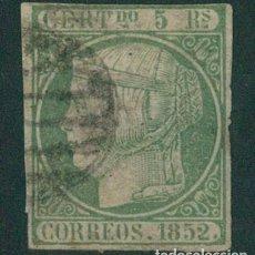 Sellos: EDIFIL 15. ISABEL II 5 R. VERDE.MARQUILLADO ROIG.. Lote 146443962
