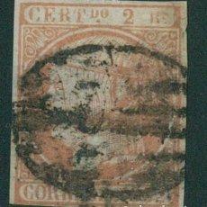 Sellos: EDIFIL 14.ISABEL II.CERTIFICADO.C.M.F.CATÁLOGO 7.500€. Lote 146514006