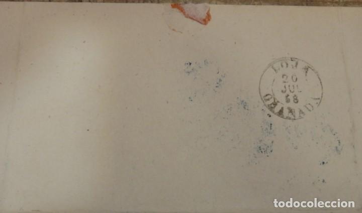 Sellos: CARTA ENTRE BENAMEJI Y LOJA, 1858, FECHADOR AZUL BENAMEJI, CORDOVA, MUY RARA, TOP - Foto 2 - 146573610