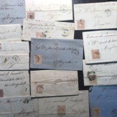 Sellos: COLECCIÓN POSTAL MENGÍBAR. 48 CARTAS AÑOS 1858,58 Y 1867,68 Y 69. Lote 146737693