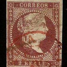 Sellos: EDIFIL 50 FECHADOR ROJO VARIEDAD SIN CINTA. Lote 146741998