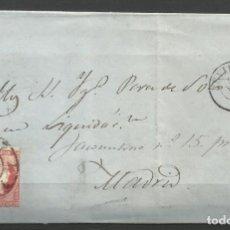 Sellos: CARTA COMPLETA DE SEVILLA A MADRID EN 1.859. Lote 147546746