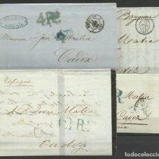 Sellos: CUATRO CARTAS PREFILATELICAS DE FRANCIA A CADIZ. Lote 147585026