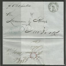 Sellos: PRECIOSA CARTA DE HABANA A NUEVA YORK POR BARCO A VAPOR.. Lote 147586278