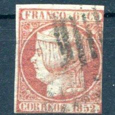 Sellos: EDIFIL 12. 6 CUARTOS ISABEL II. AÑO 1852. USADO. PRECIOSO.. Lote 148372773
