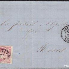 Sellos: 1859. JATIVA A REUS. 4 CUARTOS ED. 48B MAT. FECHADOR TPO I Y FECHADOR TIPO II.. Lote 148651806