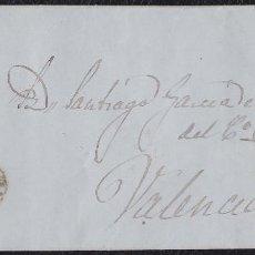 Sellos: 1857. CASTELLÓN DE LA PLANA A VALENCIA. 4 CUARTOS ED. 48 MAT. PARRILLA NEGRA. FECHADOR TIPO I ROJO.. Lote 148751614