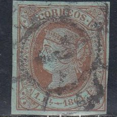 Sellos: ESPAÑA, 1864 EDIFIL Nº 67 , SELLO PERFECTO. . Lote 148998622