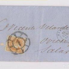 Sellos: CARTA ENTERA DE MADRID A SALAS, ASTURIAS. 1861. BONITA RUEDA DE CARRETA. Lote 149405374