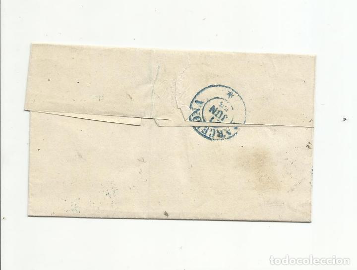 Sellos: ENVUELTA CIRCULADA 1855 de CADIZ A BARCELONA EDIFIL 40 con fechador llegada - Foto 2 - 149496478