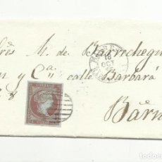 Sellos: ENVUELTA CIRCULADA 1855 DE MANRESA A BARCELONA EDIFIL 40 . Lote 149496826