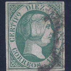 Sellos: EDIFIL 11 ISABEL II. AÑO 1851. CERTIFICADO (ENRIQUE SORO BERGUA). LUJO. VALOR CATÁLOGO: 720 €.. Lote 149502682