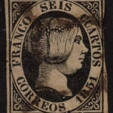 Sellos: ESPAÑA 6 - AÑO 1851 - REINA ISABEL II. Lote 149632710