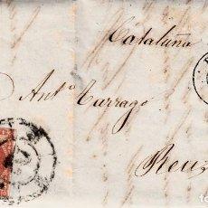 Sellos: CARTA ENTERA CON SELLO NUM. 48 DE MORAL EN BURGOS -1859- RUEDA CARRETA . Lote 150549890