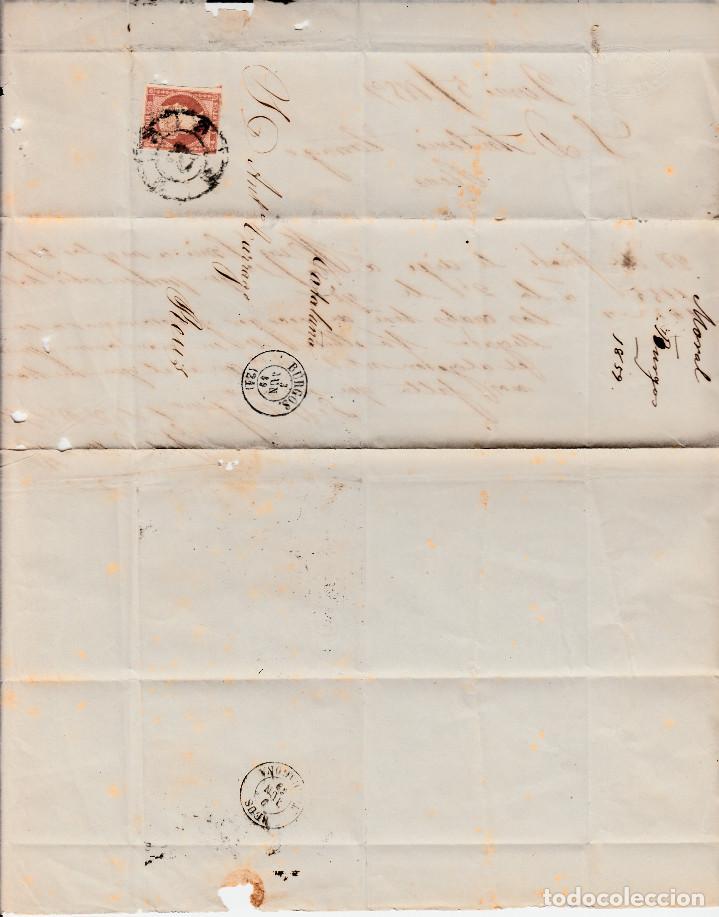 Sellos: CARTA ENTERA CON SELLO NUM. 48 DE MORAL EN BURGOS -1859- RUEDA CARRETA - Foto 2 - 150549890
