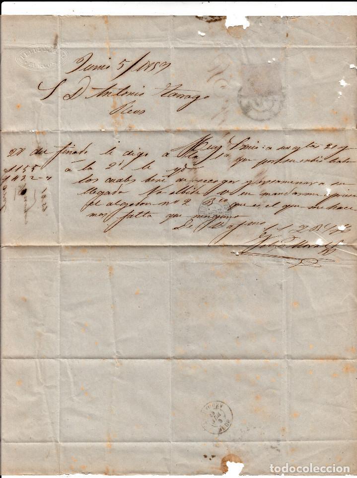 Sellos: CARTA ENTERA CON SELLO NUM. 48 DE MORAL EN BURGOS -1859- RUEDA CARRETA - Foto 3 - 150549890