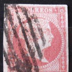 Sellos: EDIFIL 48, USADO, MATASELLO PARRILLA. ISABEL II.. Lote 150615126