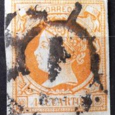 Sellos: EDIFIL 52, USADO CARRETA Nº 1 (MADRID). ISABEL II.. Lote 150615290