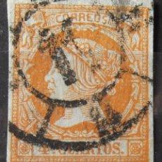 Sellos: EDIFIL 52, USADO, CARRETA Nº 11 (MURCIA). ISABEL II.. Lote 176319645