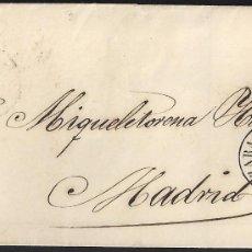 Sellos: 1858. ZARAGOZA A MADRID. 4 CUARTOS MAT. PARRILLA LIMADA ESPECIAL. FECHADOR TIPO II. MUY INTERESANTE.. Lote 150949966