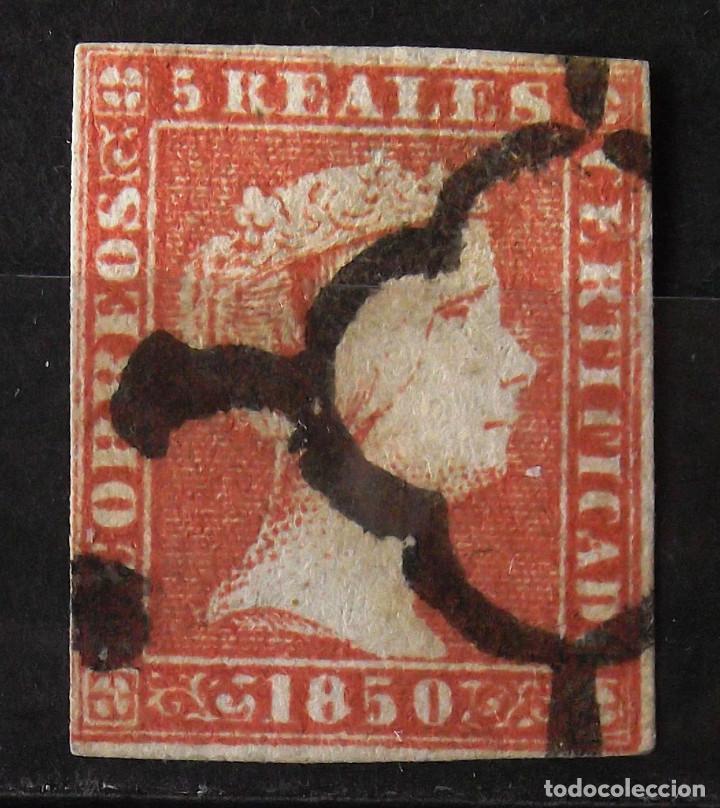 EDIFIL 3, USADO; FIRMAS: ROIG Y GUINOVART. ISABEL II. (Sellos - España - Isabel II de 1.850 a 1.869 - Usados)