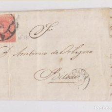 Sellos: CARTA ENTERA DE CORUÑA A BILBAO. RUEDA DE CARRETA. 1846. Lote 151550818