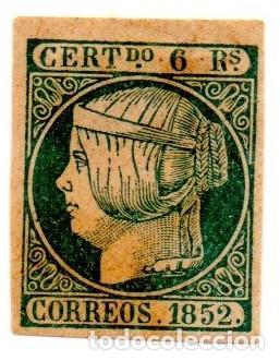 ESPAÑA 1852 - EDIFIL 16- 6 REALES DE ISABEL LL - NUEVO (Sellos - España - Isabel II de 1.850 a 1.869 - Nuevos)