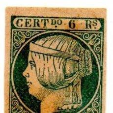 Sellos: ESPAÑA 1852 - EDIFIL 16- 6 REALES DE ISABEL LL - NUEVO. Lote 151851094