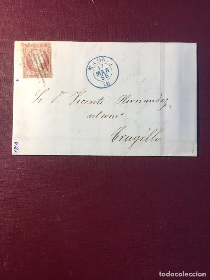 CARTA FILATELICA,(MADRID 1856) (Sellos - España - Isabel II de 1.850 a 1.869 - Cartas)