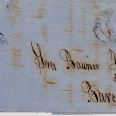 Sellos: AÑO 1867 EDIFIL 96 ISABEL II CARTA A BARCELONA MATASELLOS REUS TARRAGONA . Lote 152805626