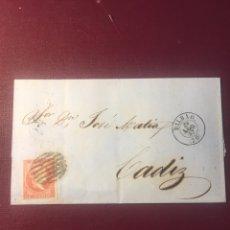 Sellos: CARTA FILATELICA,(BILBAO 1857).. Lote 152816865