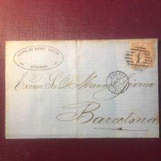 Sellos: CARTA FILATELICA,(MADRID 1863).. Lote 152975154