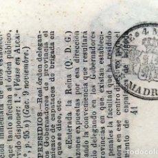 Sellos: TIMBRE DE PERIÓDICO 1866. 4 MILS. DE ESCUDO . Lote 153277202