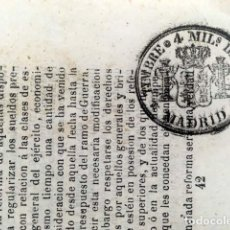 Sellos: TIMBRE DE PERIÓDICO 1866. 4 MILS. DE ESCUDO . Lote 153277266