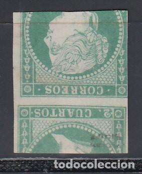 ESPAÑA, 1856 GALVEZ Nº 44D, IMPRESIÓN ANVERSO Y REVERSO. (Sellos - España - Isabel II de 1.850 a 1.869 - Nuevos)