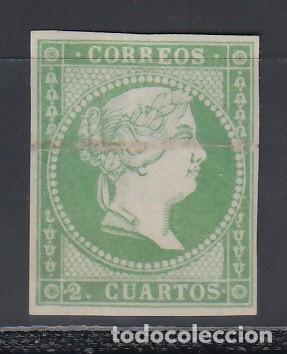 Sellos: ESPAÑA, 1856 GALVEZ Nº 44D, IMPRESIÓN ANVERSO Y REVERSO. - Foto 2 - 153385166