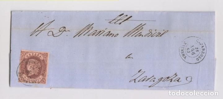 CARTA ENTERA. CAPARROSO, NAVARRA. 1863 (Sellos - España - Isabel II de 1.850 a 1.869 - Cartas)