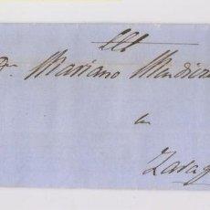 Sellos: CARTA ENTERA. CAPARROSO, NAVARRA. 1863. Lote 153485670