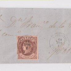 Sellos: CARTA ENTERA. CULLERA, VALENCIA. 1863. A MOTRIL, GRANADA. . Lote 153489514