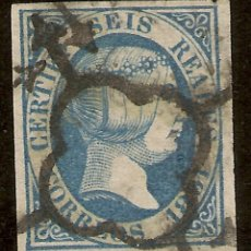 Sellos: ESPAÑA EDIFIL 10 (º) SEIS REALES AZUL ISABEL II 1851 NL1220. Lote 153498322