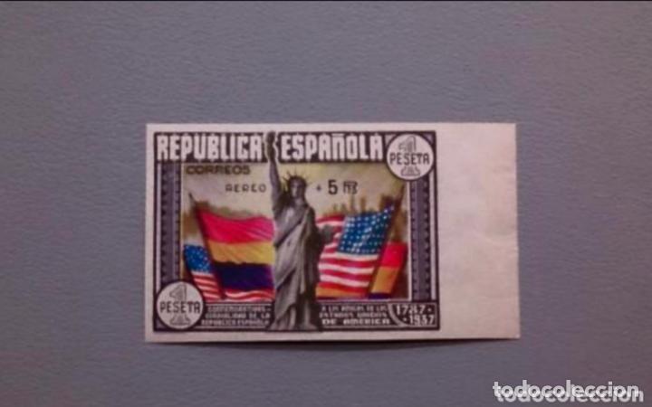 ESPAÑA - 1938 - II REPUBLICA - EDIFIL 765 S - MNH** - NUEVO - LUJO - MARQUILLADO - VALOR CAT. 750€. (Sellos - España - Isabel II de 1.850 a 1.869 - Nuevos)